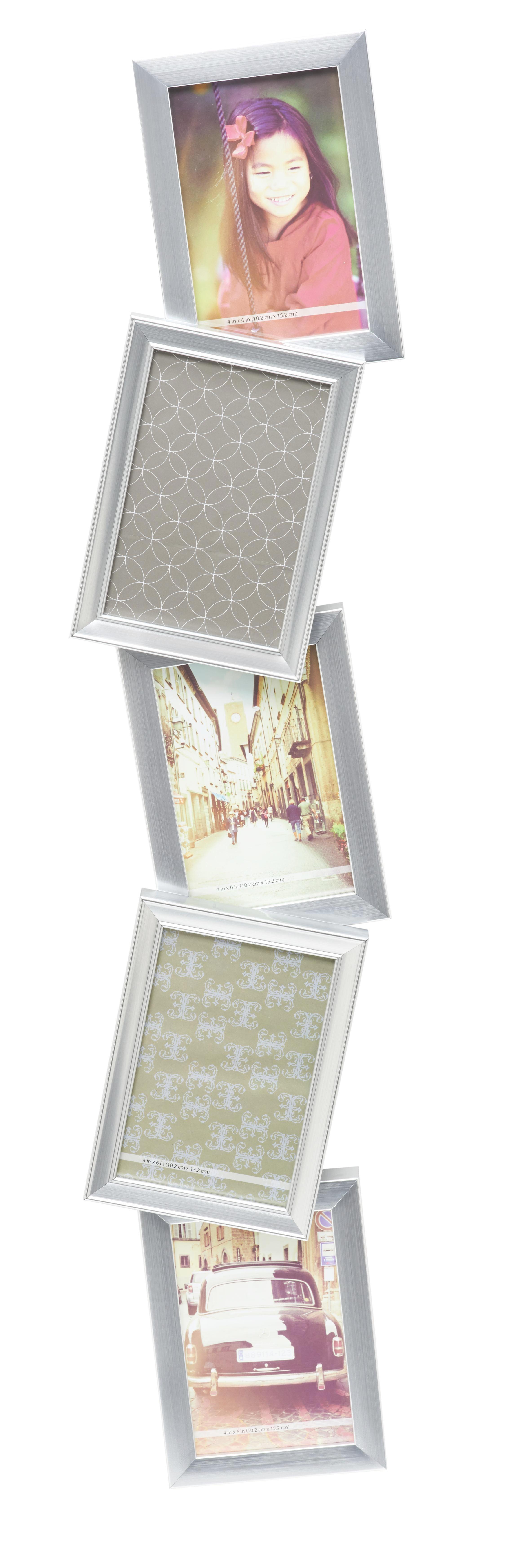 Bilderrahmen Casius, ca. 21,49x86,51x5cm - Nickelfarben, KONVENTIONELL, Kunststoff (21,49/86,51/5cm) - MÖMAX modern living