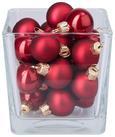 Christbaumkugel-set Adele Verschiedene Farben - Rot/Silberfarben, Glas (3cm) - Mömax modern living
