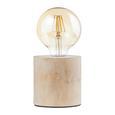 Tischleuchte Woodi Natur max. 60 Watt - Beige/Naturfarben, LIFESTYLE, Holz/Kunststoff (10/10cm) - Mömax modern living