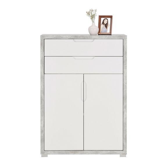 Regal in Grau/Weiß - Weiß/Grau, MODERN, Holzwerkstoff (80/112/36cm) - Mömax modern living