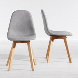 Stuhl Joelyna - Hellgrau, MODERN, Holz/Textil (44/88/52cm) - MODERN LIVING