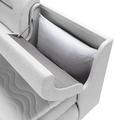 Boxspringbett Weiß 180x200cm - Schwarz/Weiß, Kunststoff/Textil (240/190/100cm) - Premium Living