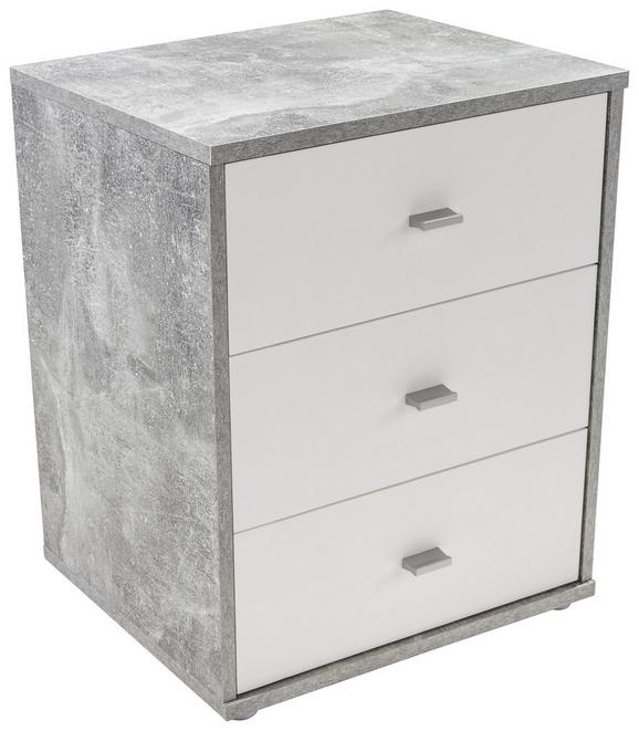 Nočna Omarica 4-you New - bela/krom, Konvencionalno, umetna masa/leseni material (50/54,8/34,6cm) - Mömax modern living