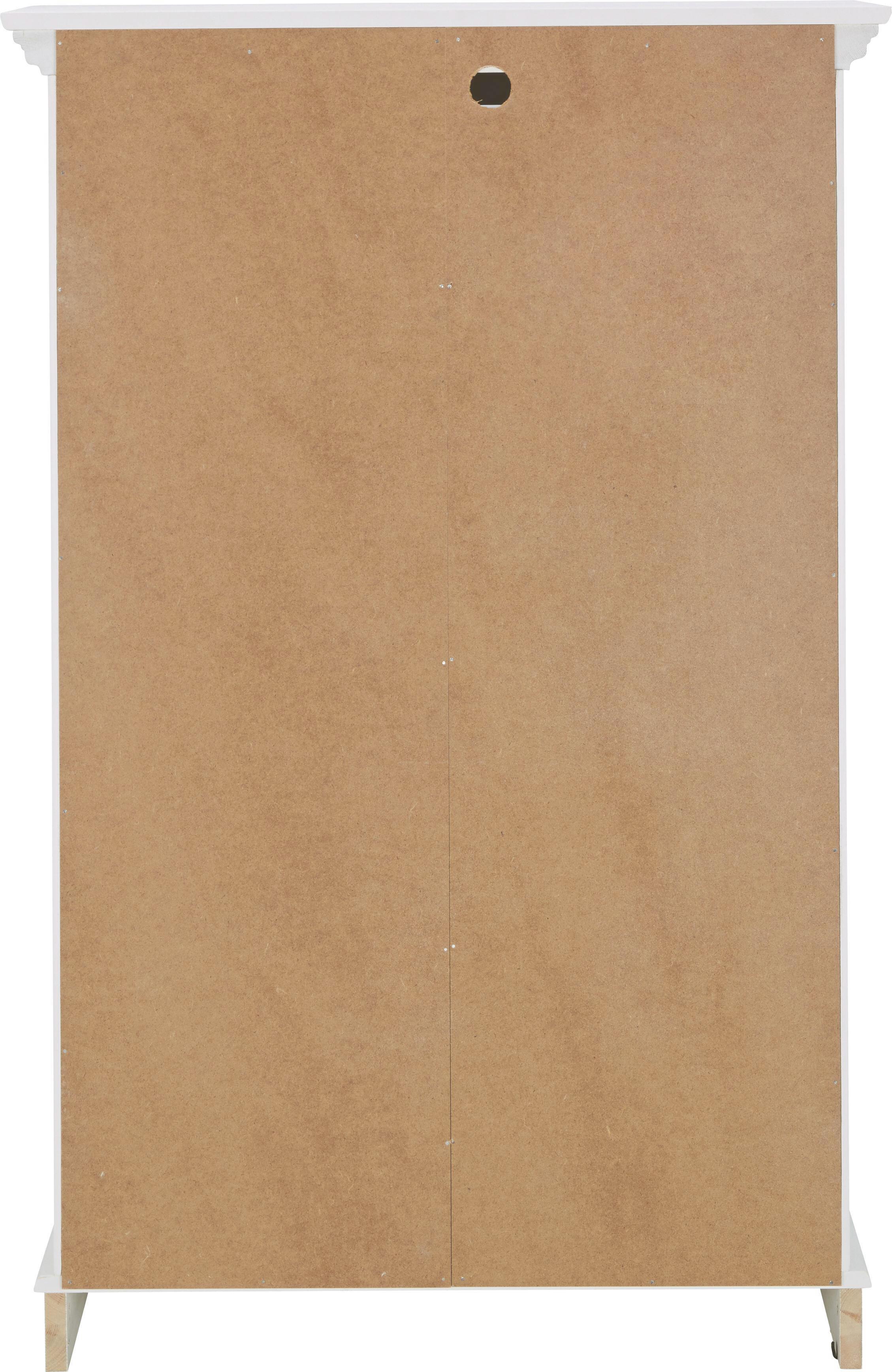 Highboard Claudia - Weiß, KONVENTIONELL, Glas/Holz (79/120/44,5cm) - PREMIUM LIVING