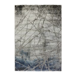 Webteppich Manchester ca. 80x150cm - Blau/Grau, MODERN, Textil (80/150cm) - Mömax modern living