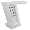 Bar Weiß/Chromfarben - Chromfarben/Weiß, MODERN, Metall (125,5/107/45cm) - Modern Living