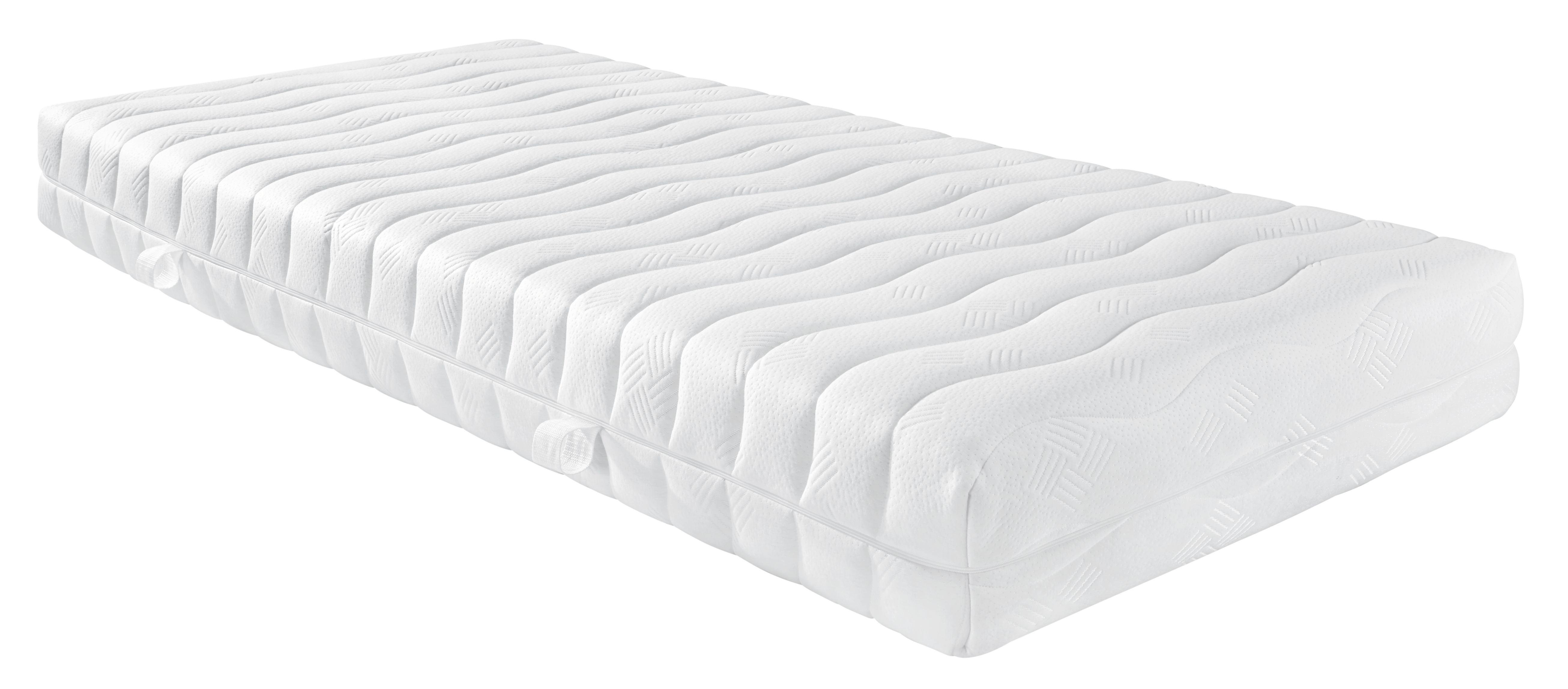 Wendematratze Komfortschaumkern,ca. 90x200cm - Weiß, Textil (90/200/20cm) - NADANA