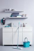 Fensterwischer Paula 2in1 Grau/opal - Opal/Grau, MODERN, Kunststoff (28/30/6cm) - Mömax modern living