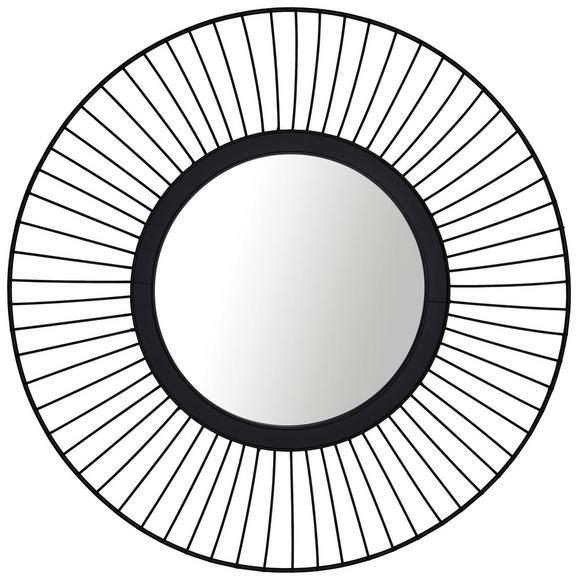 Wandspiegel Metall/Schwarz - Schwarz, LIFESTYLE, Glas/Metall (60/60/3cm) - Modern Living