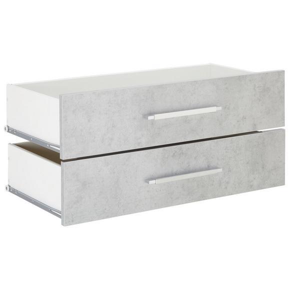 Schubladenset in Grau 2er Set - Grau, MODERN, Holzwerkstoff/Metall (75,6/34,6/36,8cm) - Mömax modern living
