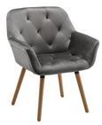 Stuhl Elsa - Buchefarben/Grau, MODERN, Holz/Textil (66/81,5/60,5cm) - Modern Living