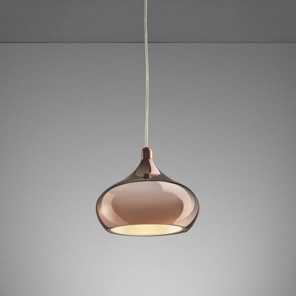 Pendelleuchte Alex mit Led - Goldfarben/Kupferfarben, MODERN, Kunststoff/Metall (20/20/120cm) - Premium Living