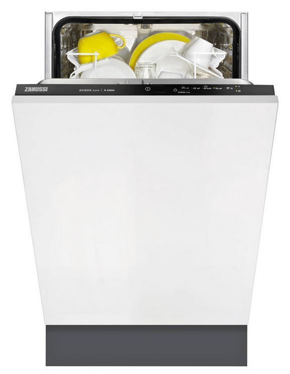 Geschirrspüler Zanussi Zdv12003fa, EEZ A+ - Schwarz/Weiß (44,6/81,8/55cm) - ZANUSSI