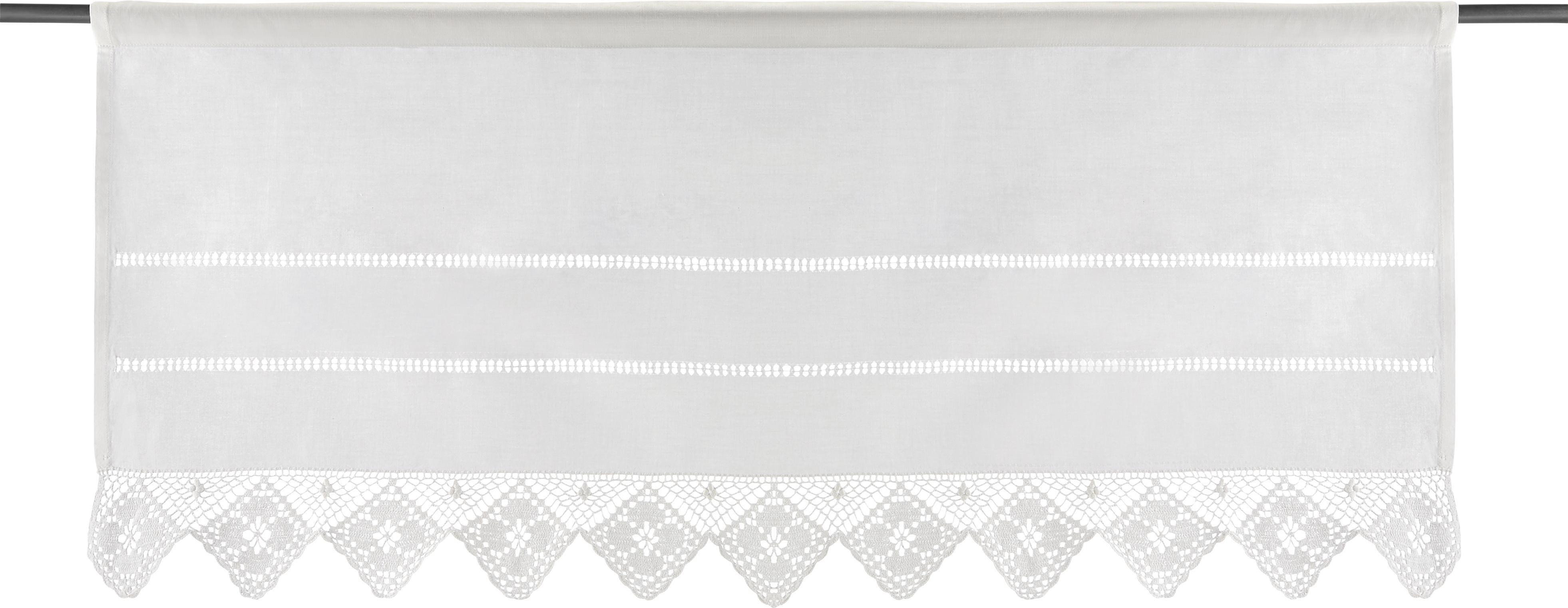 Kurzgardine Carmen 45x100cm - Weiß, KONVENTIONELL, Textil (50/100cm) - PREMIUM LIVING