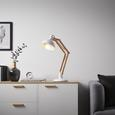 Tischleuchte Alea - Weiß, MODERN, Holz/Metall (19/65/cm) - Mömax modern living