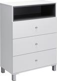Badezimmerschrank Bianco - Dunkelgrau/Weiß, MODERN, Kunststoff (68/93/35cm) - Mömax modern living
