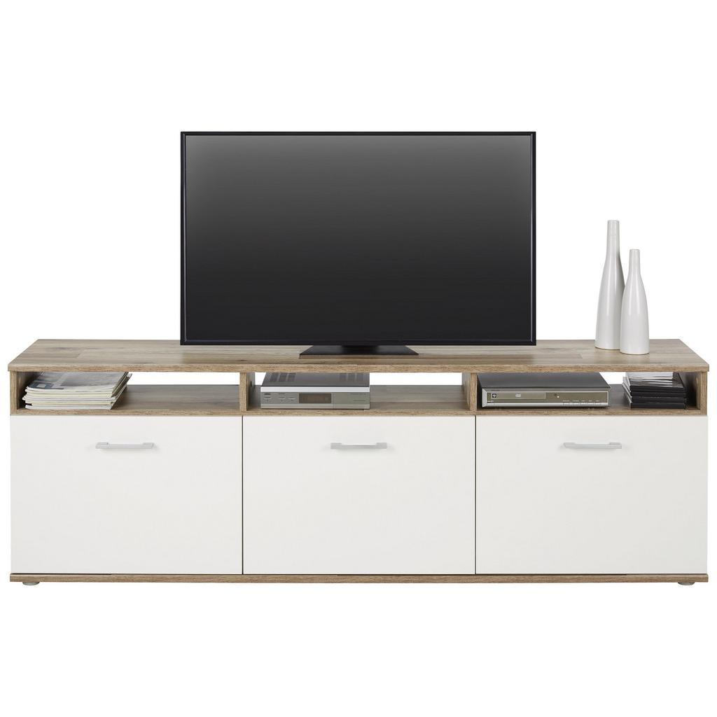 Lowboard Braun/Weiß