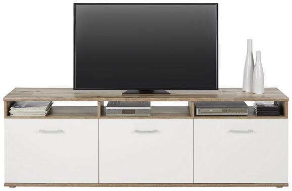Nizka Omarica Joker - bela/srebrna, Moderno, umetna masa/leseni material (172/56/37cm)