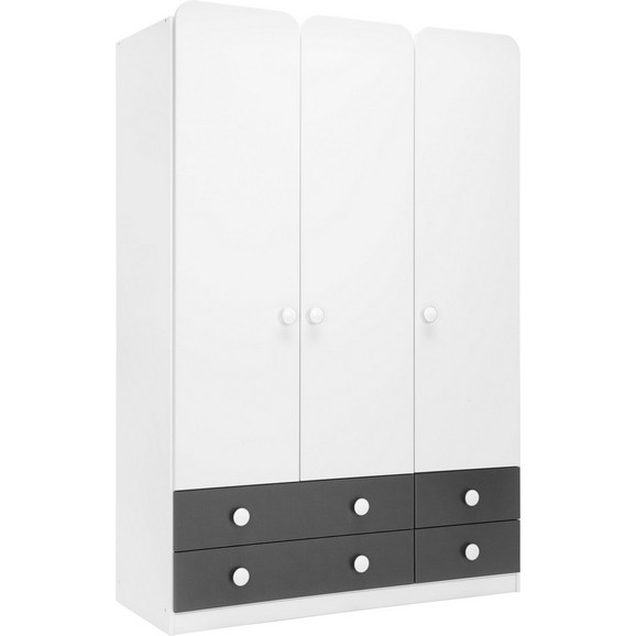kleiderschrank in grau wei online kaufen m max. Black Bedroom Furniture Sets. Home Design Ideas