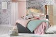 Odeja Alice - svetlo roza, Romantika, tekstil (150/180cm) - Zandiara