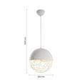 Pendelleuchte Lotta - Weiß, MODERN, Metall (30/120cm) - Modern Living
