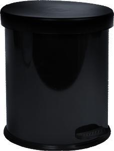 Treteimer Weissblech in Schwarz ca. 12l - Schwarz, Kunststoff/Metall