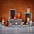 Windlicht Malin Ø/h ca. 14/16 cm - Orange, MODERN, Glas (14/16cm) - Mömax modern living