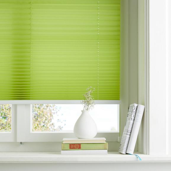 Plissee Free Grün, 90x210cm - Grün, Textil (90/210cm) - Premium Living