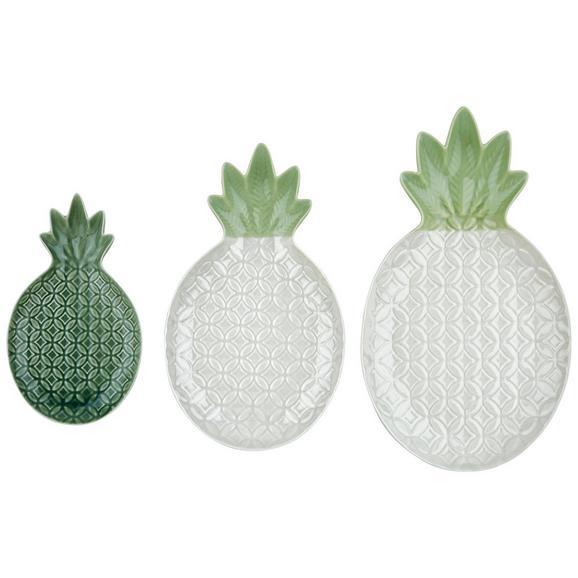 Okrasni Krožnik Anka - zelena, keramika (9,2/1,5/15,8cm) - Mömax modern living