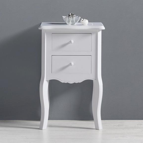 Nachtkästchen Guiseppe - Weiß, MODERN, Holz (43/66/32cm) - MODERN LIVING