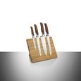 Messerblock Magnet ca. 24x20,5x2,8cm - Naturfarben, Holz/Metall (24/20,5/2,8cm) - Premium Living