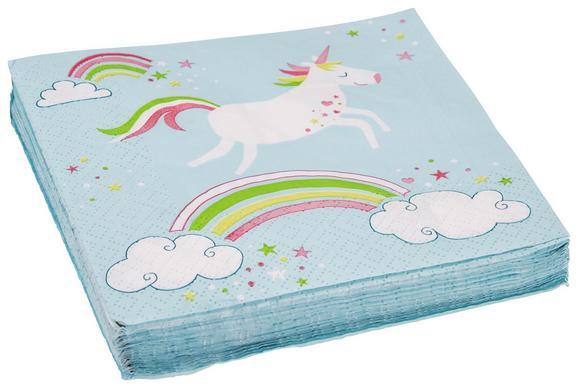 Serviette Unicorn Einhorn - Türkis/Pink, Papier (33/33cm)