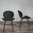 Stuhl Eleri - Schwarz, MODERN, Holz/Textil (47/75,5/58cm) - Modern Living