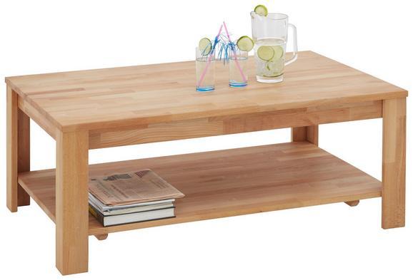 Couchtisch Holz - Buchefarben, KONVENTIONELL, Holz (110/43/70cm) - Zandiara