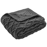 Kuscheldecke Rahel 130x170 cm - Grau, MODERN, Textil (130/170cm) - Mömax modern living