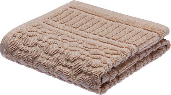 Brisača Carina - sivo rjava, Romantika, tekstil (30/50cm) - Mömax modern living