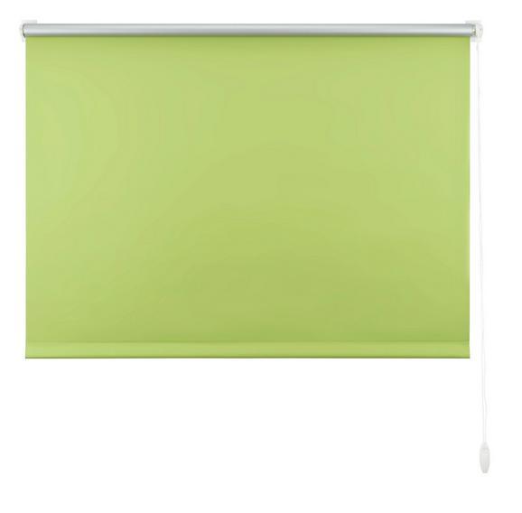 Klemmrollo Thermo in Grün, ca. 120x150cm - Grün, Textil (120/150cm) - Premium Living