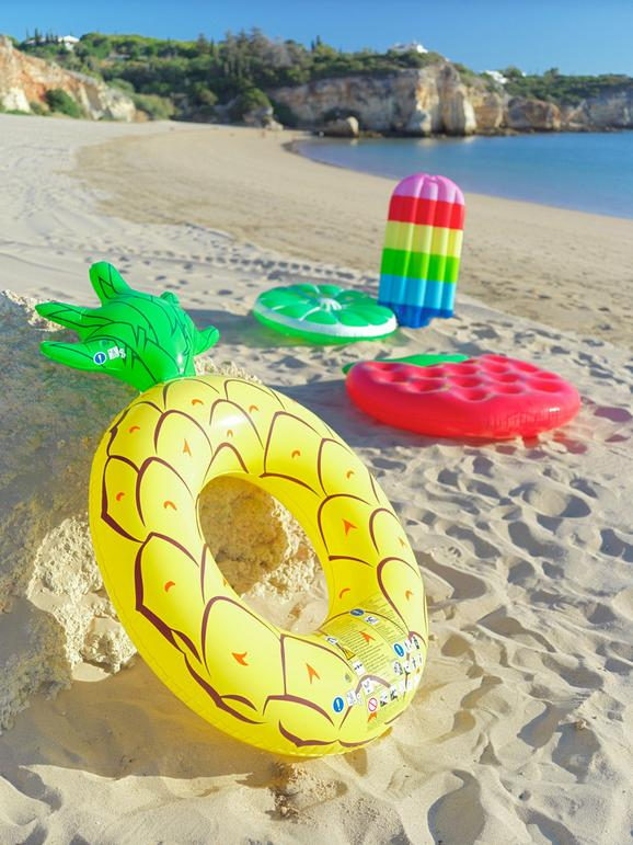 Luftmatratze Fruits verschiedene Designs - Multicolor, Kunststoff - Mömax modern living