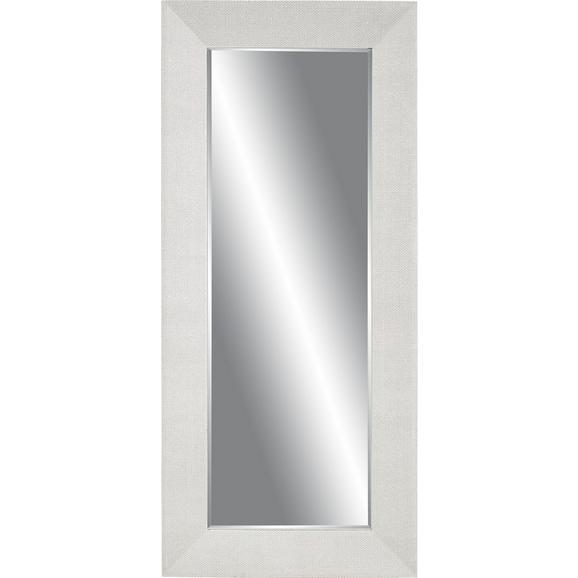 Stensko Ogledalo Glamour - srebrna, steklo/les (80/180/5cm)