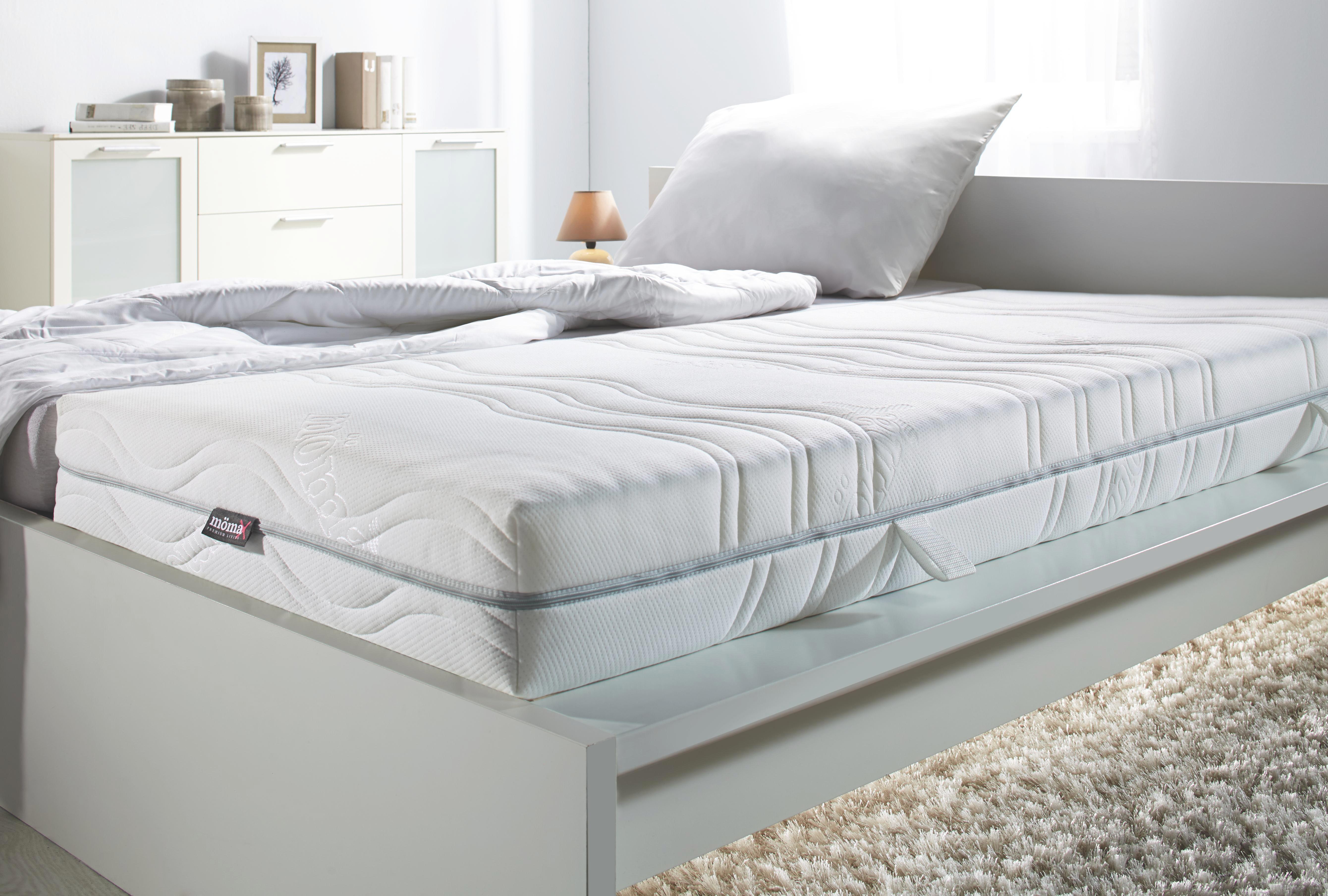 Komfortschaummatratze ca. 90x200cm - Weiß, Textil (200/90/18cm) - BASED