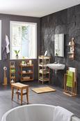 Hakenleiste Naturfarben/Chromfarben - Chromfarben/Naturfarben, MODERN, Holz/Metall (24,8/3/9,8cm) - Mömax modern living