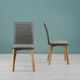 Stuhl Nino - Eschefarben/Grau, MODERN, Holz/Textil (47/96/59,5cm) - Modern Living
