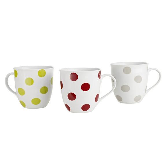 Cană Pongo - verde/roșu, Konventionell, ceramică - Modern Living