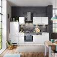 Küchenblock Neo Weiß/Betonoptik - Weiß, MODERN, Holzwerkstoff (270cm) - FlexWell.ai