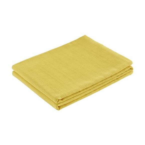 Pregrinjalo Solid One -ext- - rumena, tekstil (140/210cm)