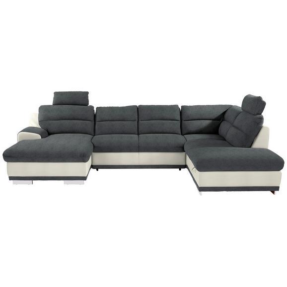 Sjedeća Garnitura Seaside - bijela/siva, Konventionell, tekstil/metal (165/334/218cm) - Modern Living