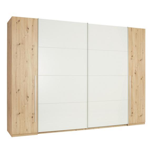 Schwebetürenschrank in Eichefarben - Eichefarben/Silberfarben, KONVENTIONELL, Holzwerkstoff/Kunststoff (267/226/61cm) - Modern Living