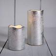Led-kerze Loa H ca. 9 cm - Silberfarben, MODERN, Weitere Naturmaterialien (9  cm)