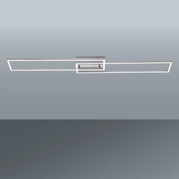 LED-Deckenleuchte Iven max. 20 Watt - Silberfarben, Kunststoff/Metall (110/25/7cm)