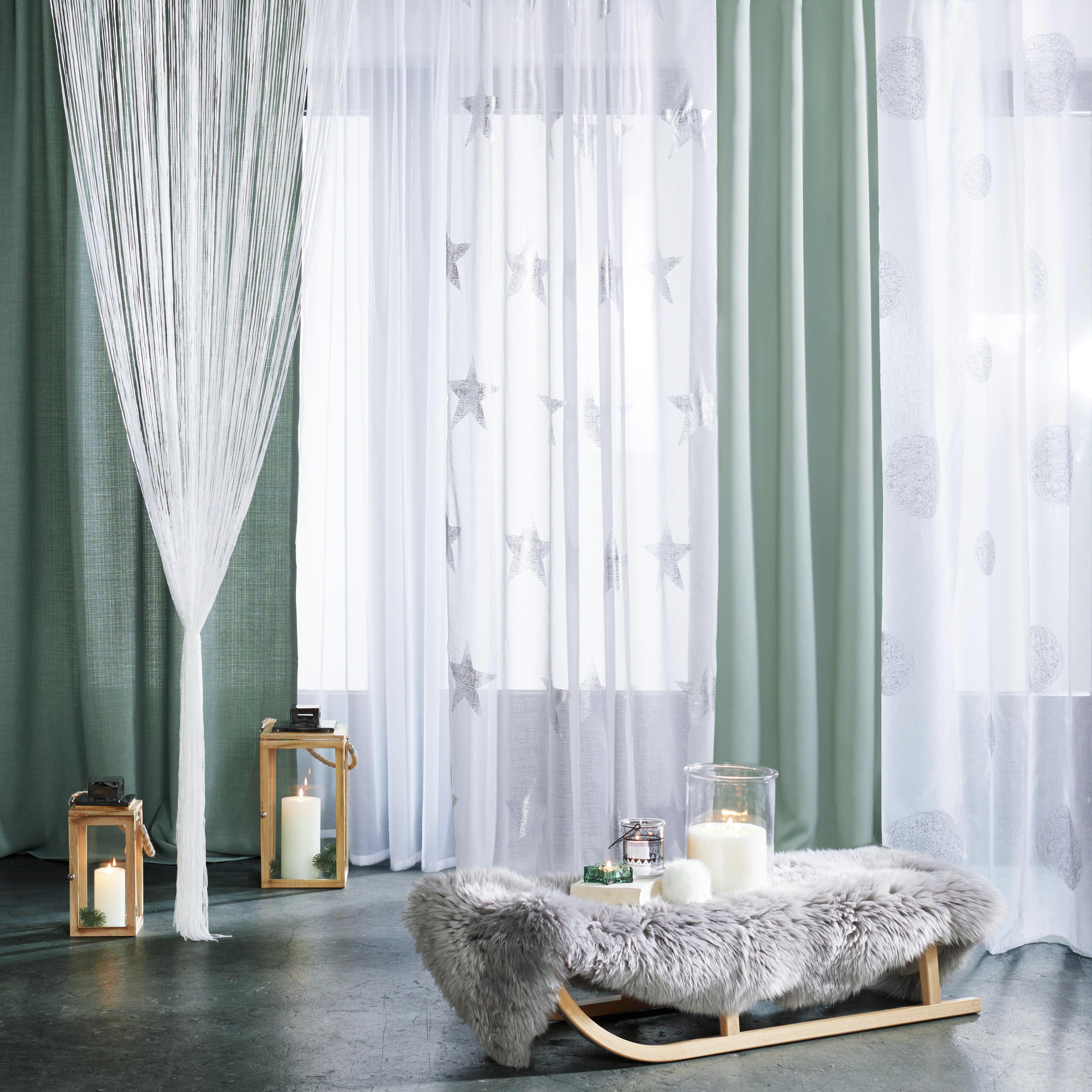 Fadenstore String in Weiß, ca. 90x245cm - Weiß, KONVENTIONELL, Textil (90/245cm) - MÖMAX modern living